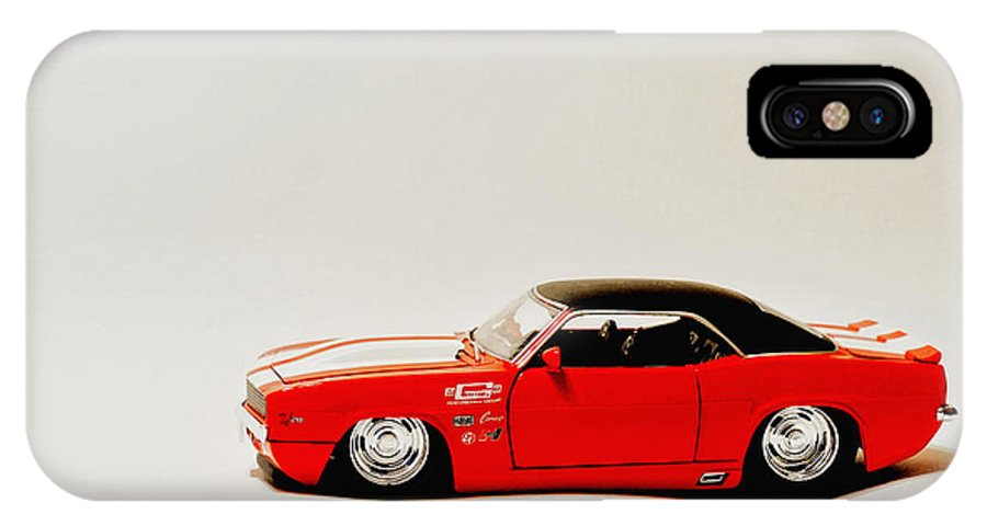 68 Chevy Camera IPhone X Case featuring the photograph 68 Chevy Camera by Jack Paolini