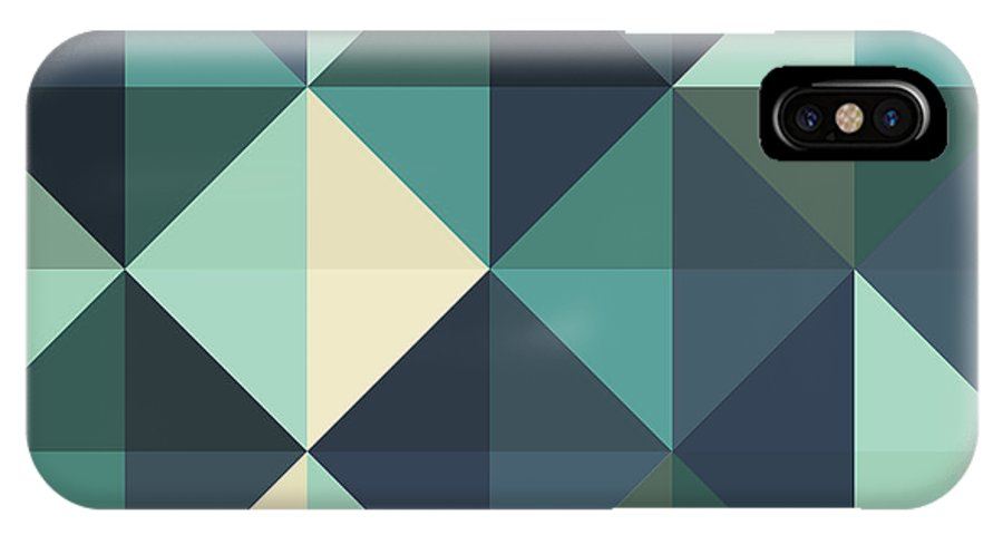 Abstract IPhone X Case featuring the digital art Pixel Art by Mike Taylor