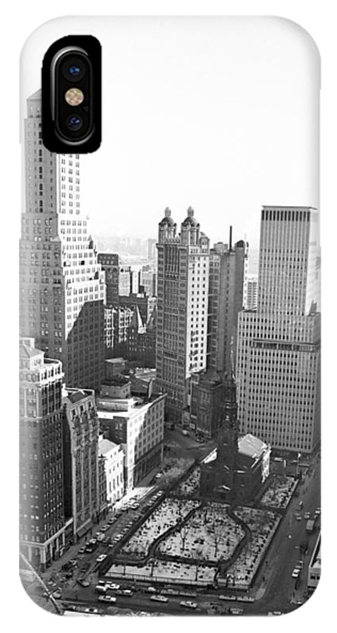 Wtc IPhone X Case featuring the photograph World Trade Center by William Haggart