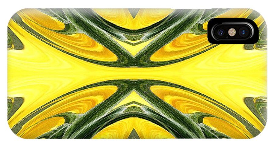 J Mccombie IPhone X Case featuring the painting Color Fashion Abstract by J McCombie