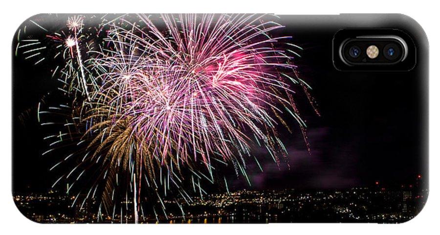 Norfolk IPhone X Case featuring the photograph Fireworks by Derek Reichert