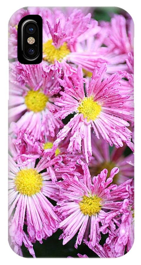 Pink.flowers.garden IPhone X Case featuring the photograph Flowers by Lee Crossley