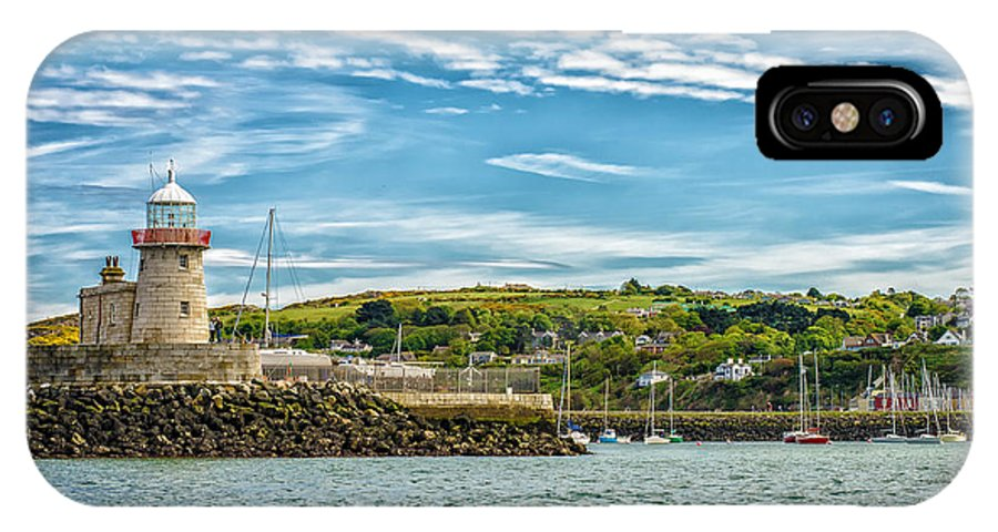 Dublin IPhone X Case featuring the photograph Howth Harbour by Phil Dimashq