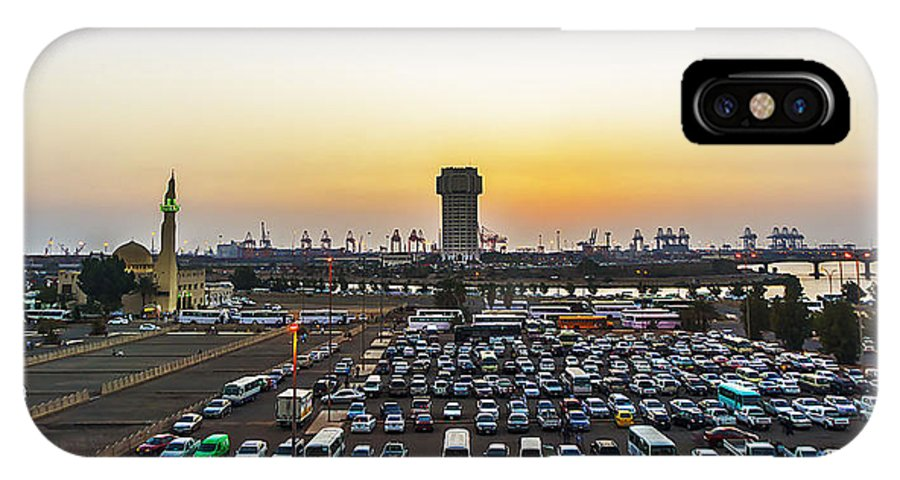 Sunrise IPhone X Case featuring the photograph Jeddah by Lik Batonboot
