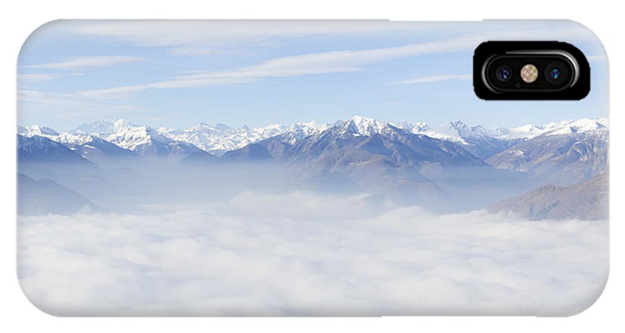 Mountains IPhone X Case featuring the photograph Sea Of Fog by Mats Silvan
