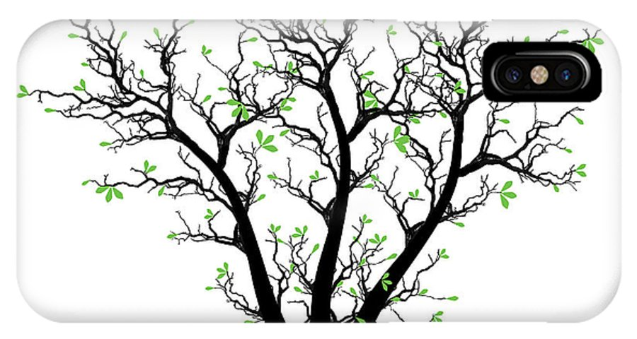 Abstract IPhone X Case featuring the photograph Spring Tree by IB Photography