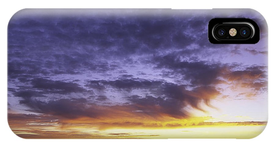 Nature IPhone X / XS Case featuring the photograph Sunset by David Davis