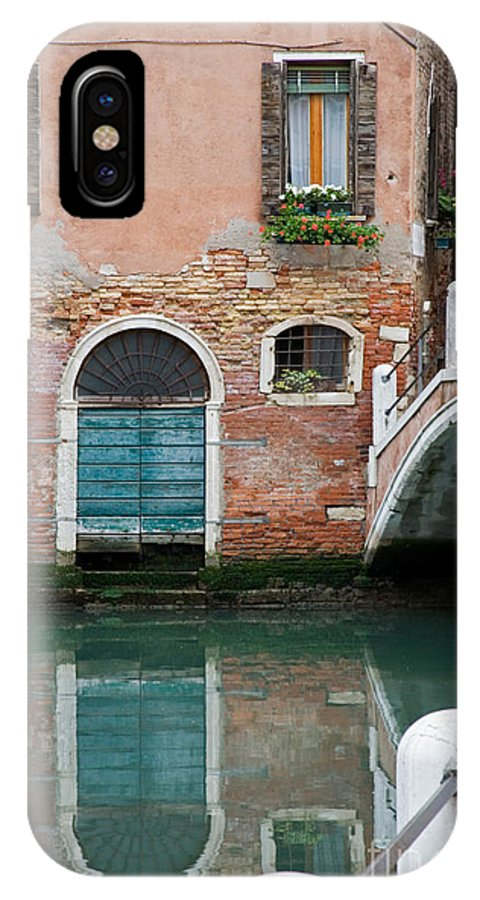 Canal IPhone X / XS Case featuring the photograph Venice by David Davis