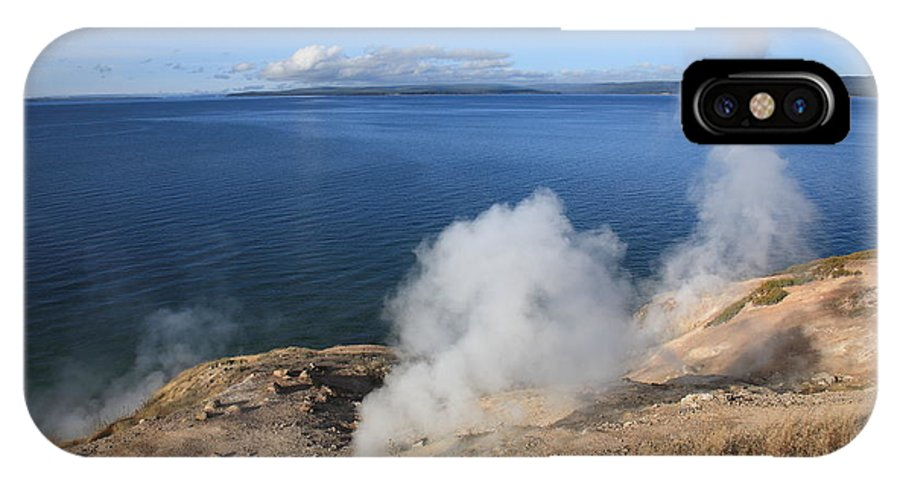 America IPhone X Case featuring the photograph Yellowstone Lake And Geysers by Frank Romeo
