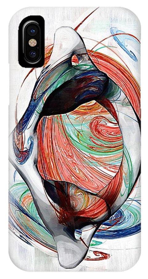 Chiropractic IPhone X Case featuring the digital art Atlas Anatomy Art by Joseph Ventura