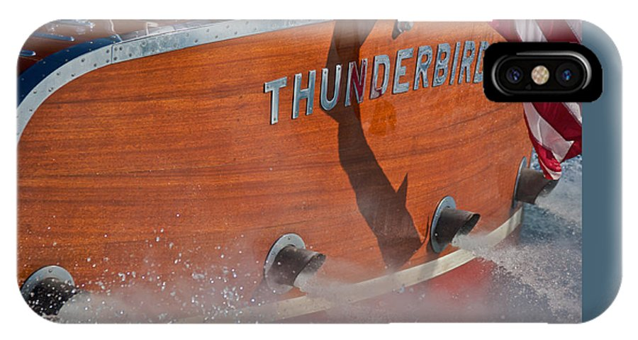 Classic Wooden Boat IPhone X Case featuring the photograph Thunderbird by Steven Lapkin