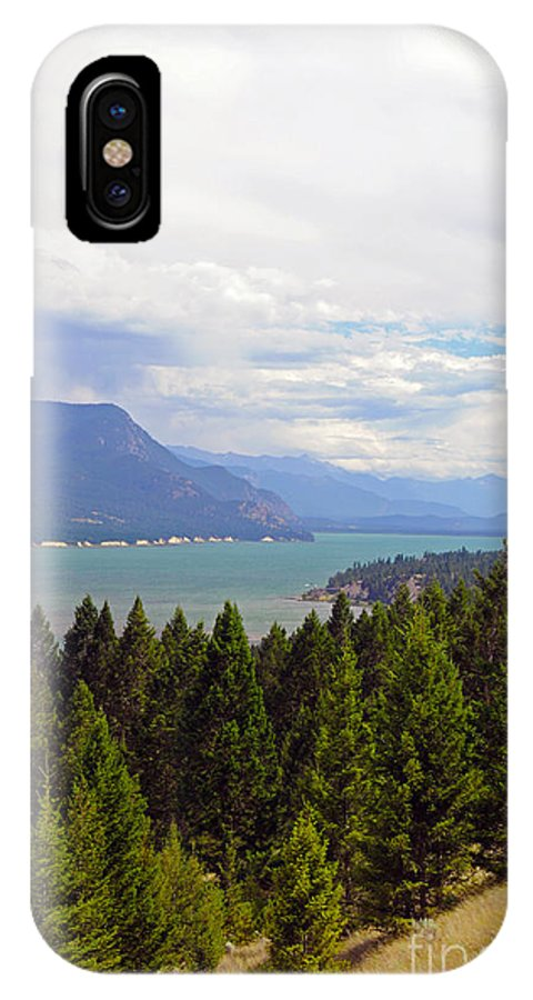 Columbia Lake IPhone X Case featuring the photograph 749p Columbia Lake Canada by NightVisions