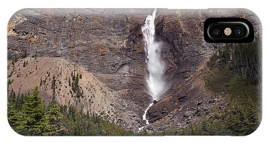 Takakkaw Falls IPhone X Case featuring the photograph 757p Takakkaw Falls Canada by NightVisions