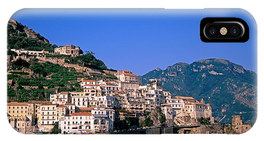 Amalfi IPhone X Case featuring the photograph Amalfi Town In Italy by George Atsametakis