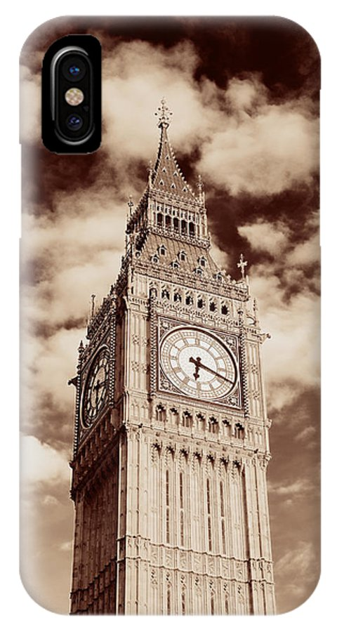 London IPhone X Case featuring the photograph Big Ben Closeup by Songquan Deng