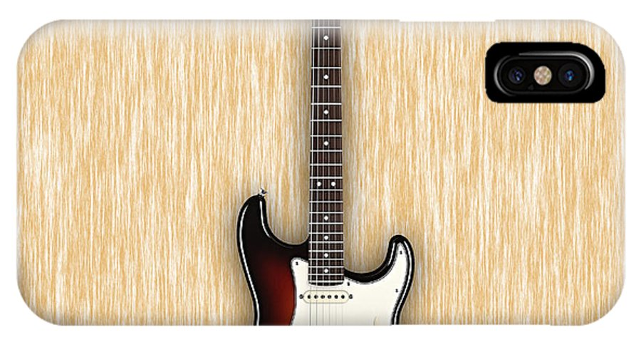 Fender Stratocaster IPhone X Case featuring the mixed media Fender Stratocaster Collection by Marvin Blaine