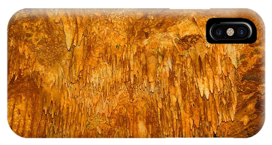 Cavern IPhone X Case featuring the photograph Luray Cavern by S Blackhawk