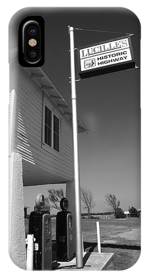 66 IPhone X Case featuring the photograph Route 66 - Lucille's Gas Station by Frank Romeo