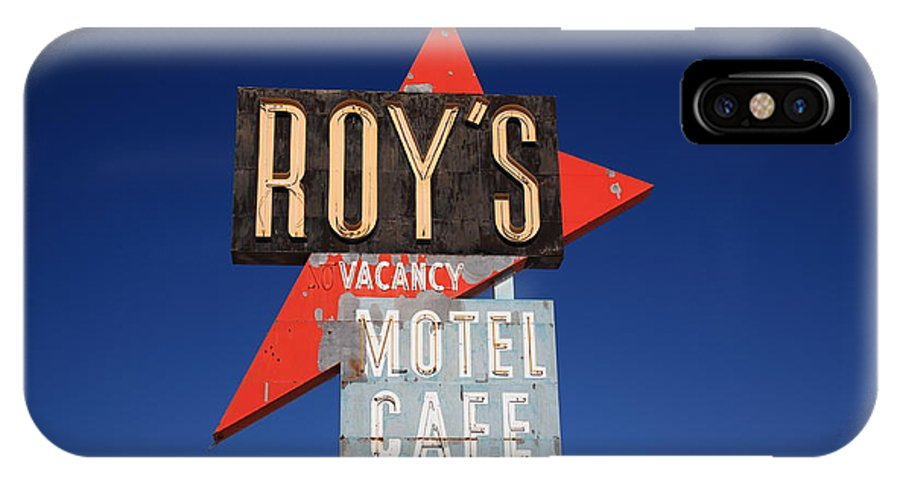 66 IPhone X Case featuring the photograph Route 66 - Roy's Of Amboy California by Frank Romeo
