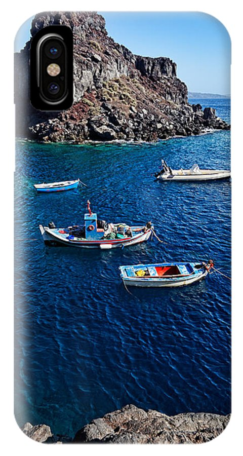 Aegean IPhone X Case featuring the photograph Santorini - Greece by Constantinos Iliopoulos
