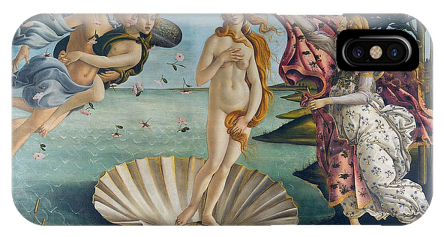 Sandro Botticelli IPhone X Case featuring the painting The Birth Of Venus by Sandro Botticelli