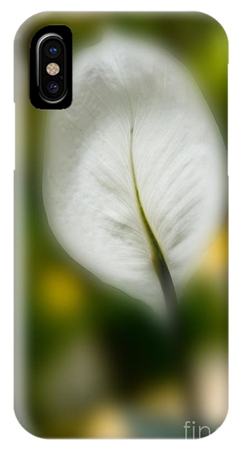 Leaf IPhone X Case featuring the photograph Untitled Flowers by Thomas Levine