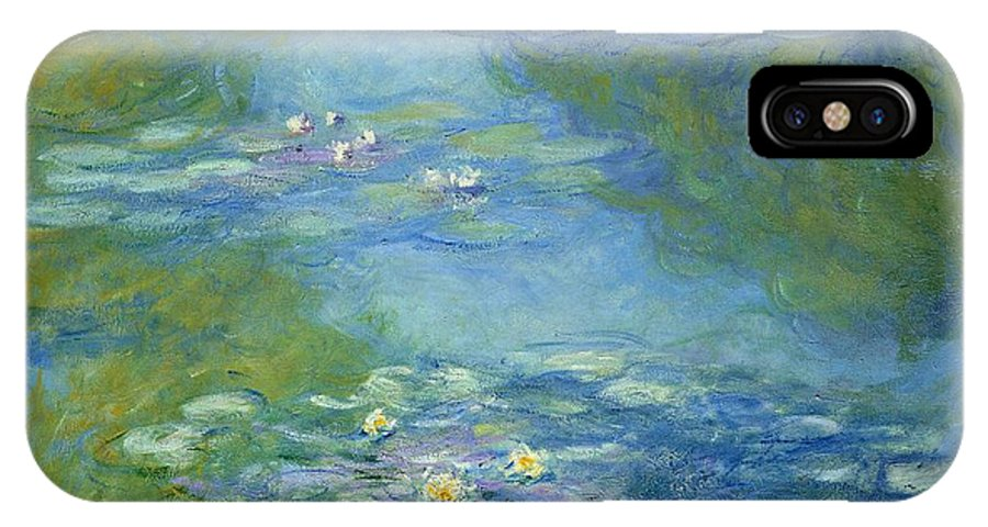 French IPhone X Case featuring the painting Waterlilies by Claude Monet