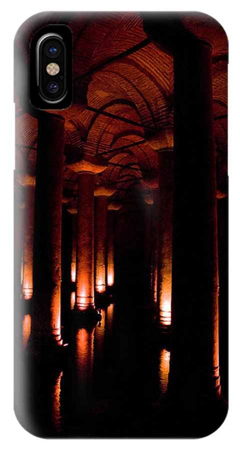 Yerebatan IPhone X Case featuring the digital art Yerebatan Sarayi Cistern Istanbul Turkey  by Dray Van Beeck