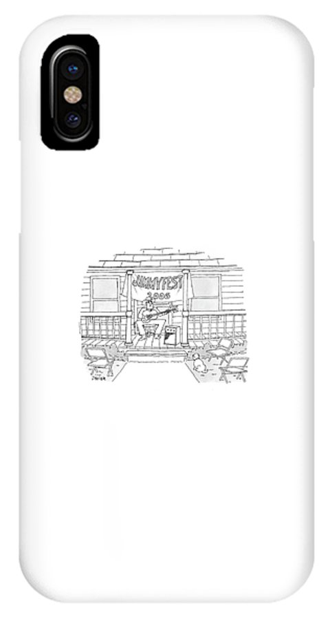 Country IPhone X Case featuring the drawing Jimmyfest 2006 by Jack Ziegler