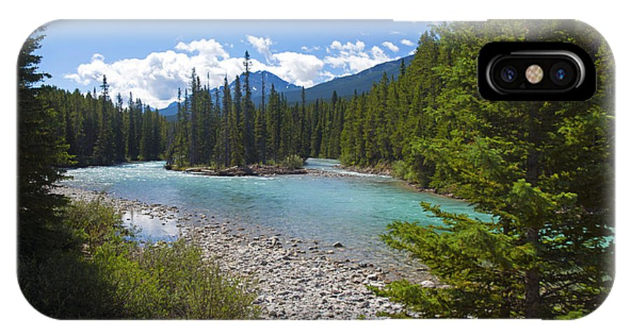 Bow River IPhone X Case featuring the photograph 853p Bow River Canada by NightVisions