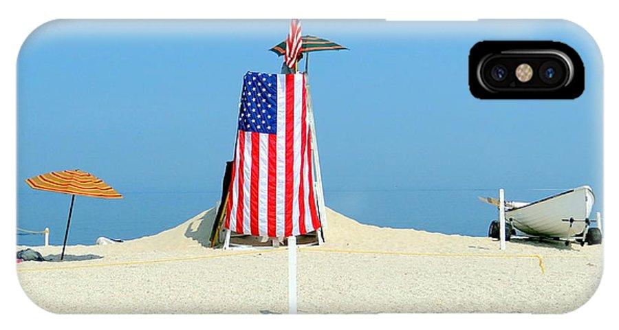 Beach IPhone X Case featuring the photograph 9-11 Beach Memorial by Ed Weidman