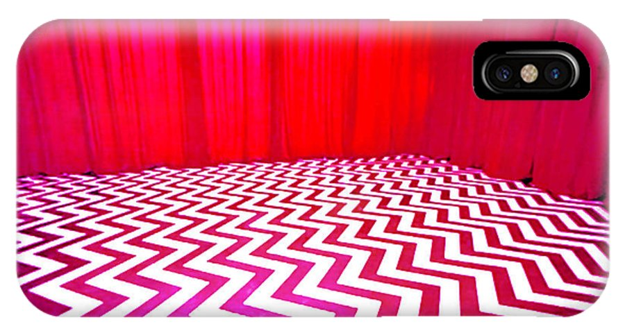 Laura Palmer IPhone X Case featuring the painting Black Lodge by Luis Ludzska