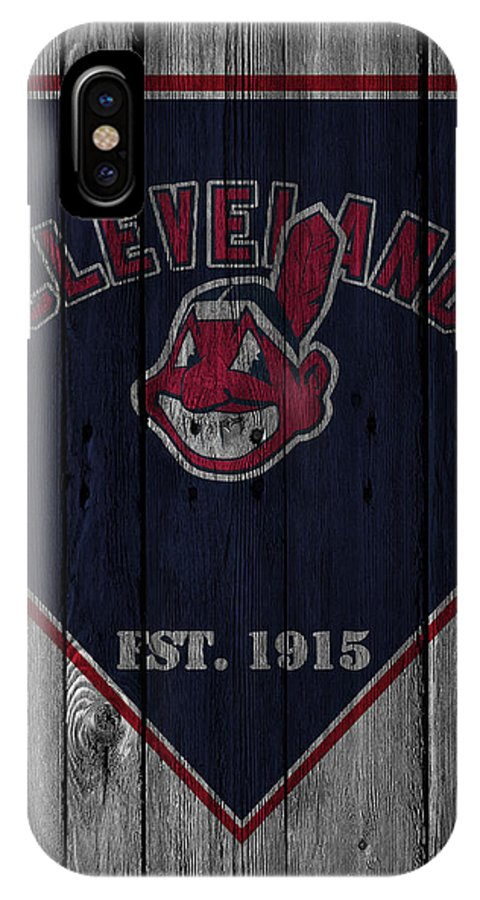 Indians IPhone X Case featuring the photograph Cleveland Indians by Joe Hamilton