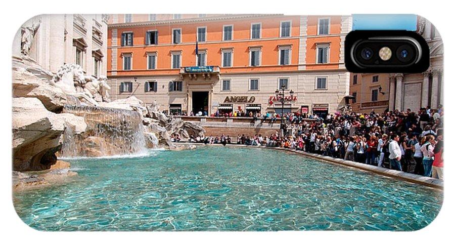Fontana Di Trevi IPhone X Case featuring the photograph Fontana Di Trevi In Rome by George Atsametakis