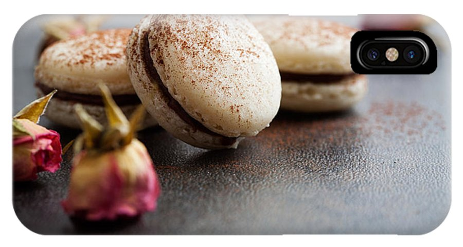 Macaron IPhone X Case featuring the photograph French Macaroons by Kati Finell