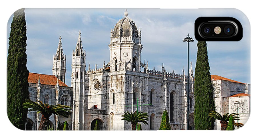 Hieronymites IPhone X Case featuring the photograph Hieronymites Monastery In Lisbon by Luis Alvarenga