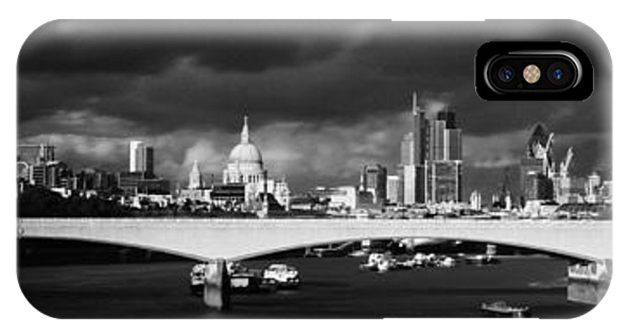 Cityscape IPhone X Case featuring the photograph London Skyline Waterloo Bridge by David French