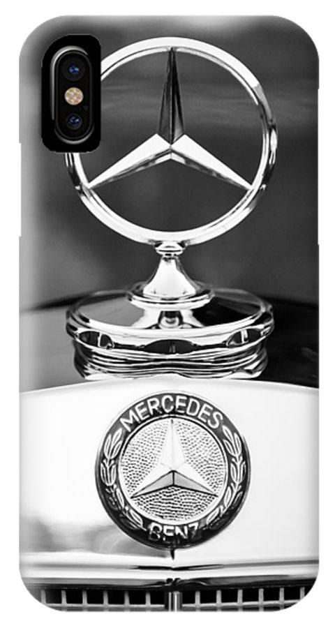 Mercedes-benz Hood Ornament IPhone X Case featuring the photograph Mercedes-Benz Hood Ornament by Jill Reger