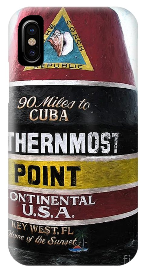 Key West IPhone X Case featuring the photograph 90 Miles To Cuba by Peggy Hughes