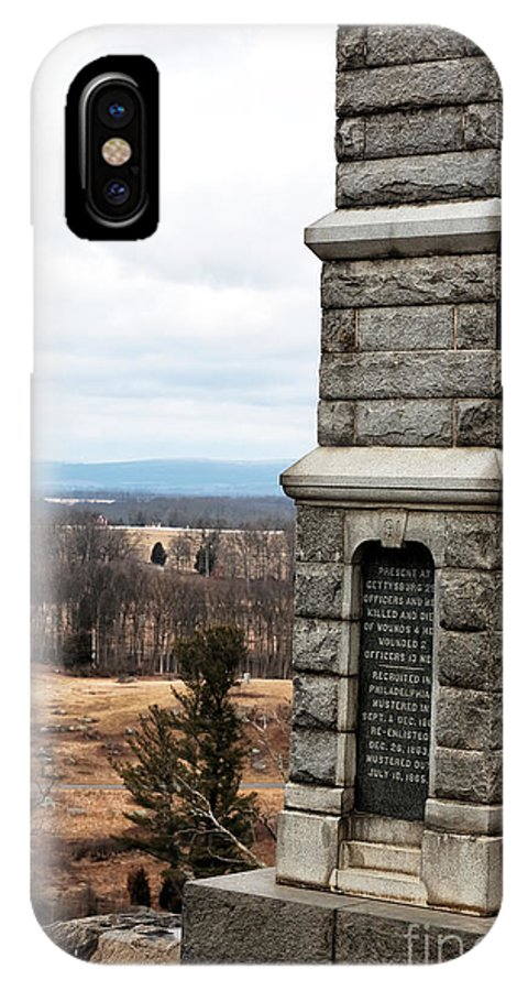 91st Penn Infantry IPhone X Case featuring the photograph 91st Penn Infantry by John Rizzuto