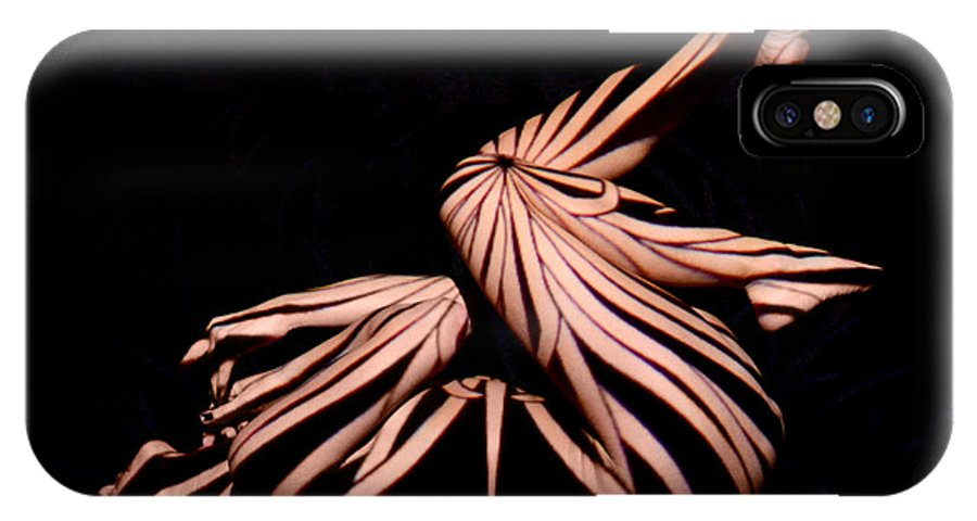 Chris Maher IPhone X Case featuring the photograph 9439 Experimental Nude Abstract by Chris Maher