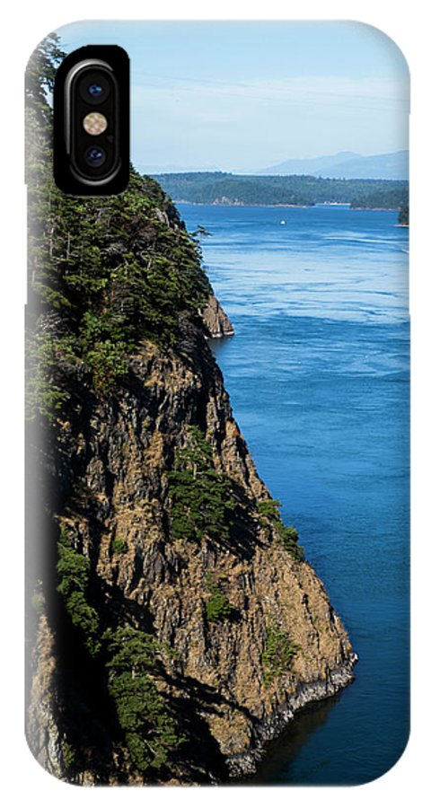 Sky IPhone X Case featuring the photograph A Beautiful Landscape At Deception Pass by Michael Hanson