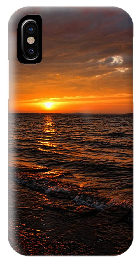 Sunset IPhone X Case featuring the photograph A Beautiful Windy Evening by Carolyn Fletcher