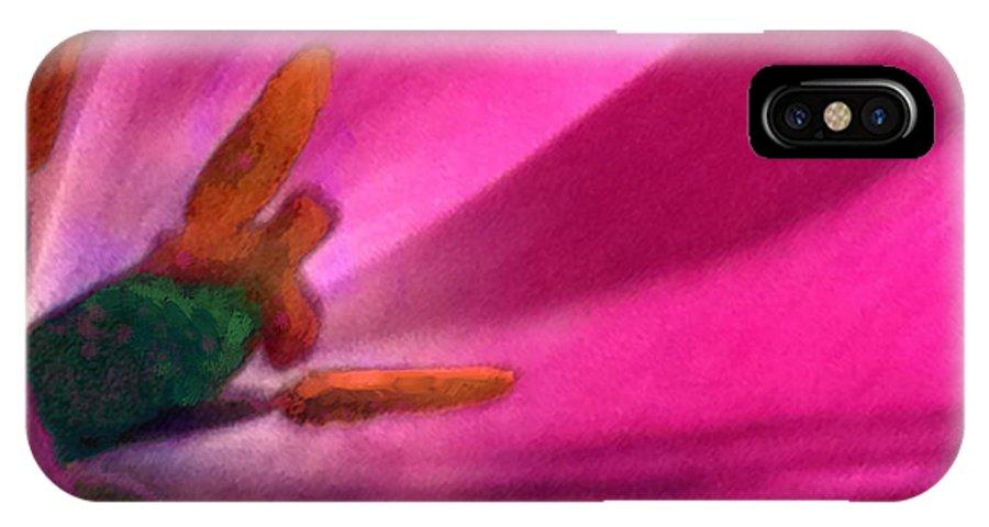 Flower IPhone X Case featuring the digital art A Bees Dream by Steve Karol