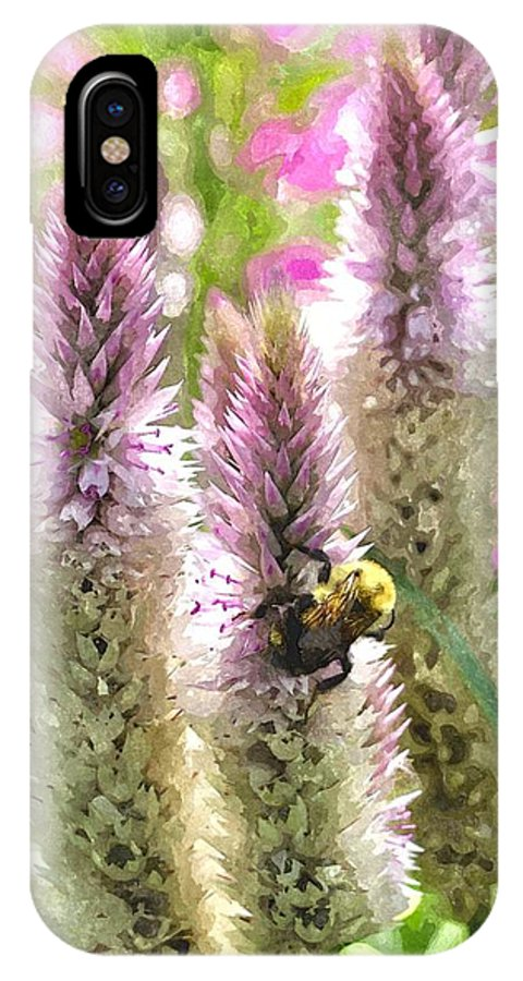 Bee IPhone X Case featuring the digital art A Bee's Work Is Never Done Abwndwc by Jim Brage
