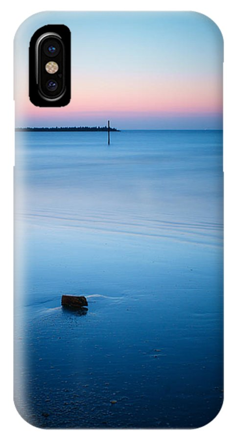 Landscape IPhone X Case featuring the photograph A Blue Goodbye by Ahmad Elsawy