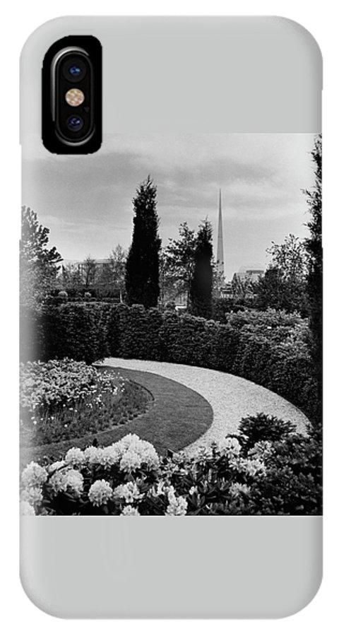 Garden IPhone X Case featuring the photograph A Bobbink & Atkins Garden by Ben Schnall
