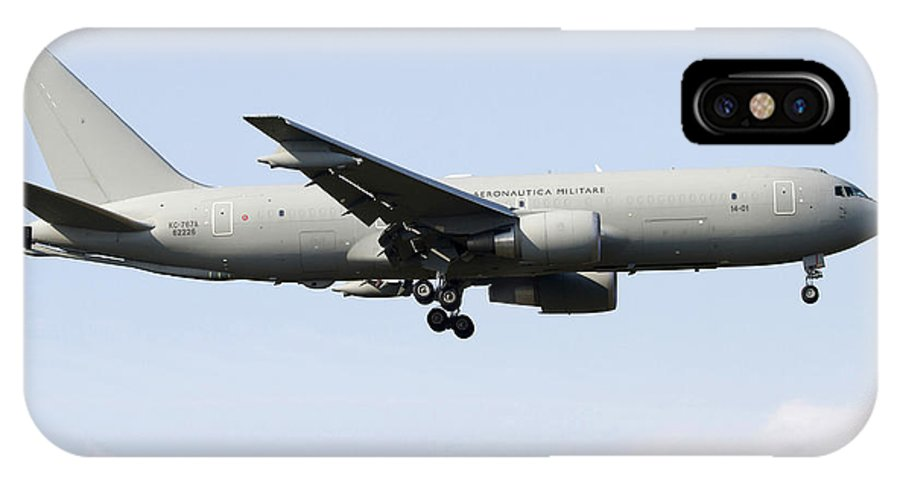 No People IPhone X Case featuring the photograph A Boeing Kc-767 Tanker Of The Italian by Luca Nicolotti