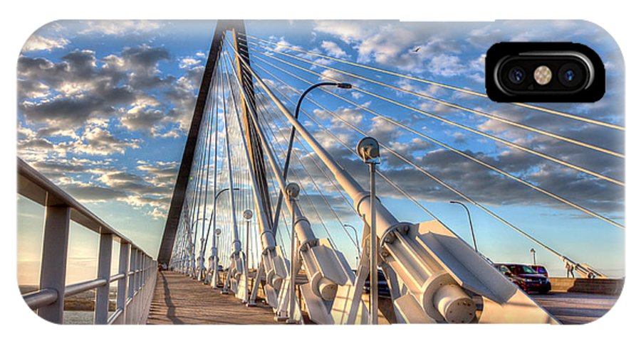Charleston IPhone X Case featuring the photograph A Bridge To Heaven by Walt Baker