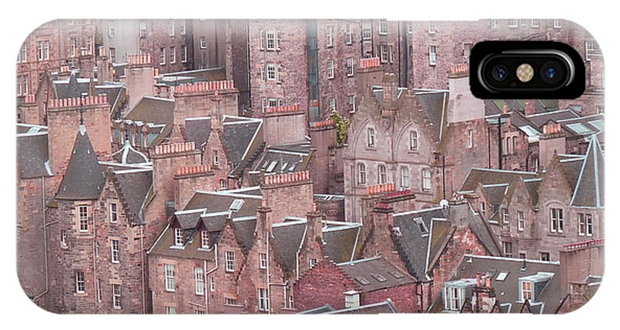 Edinburgh IPhone X Case featuring the photograph A Chimneysweep's Dream by Deborah Smolinske